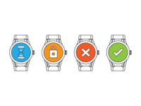 Icons for a watch updater software