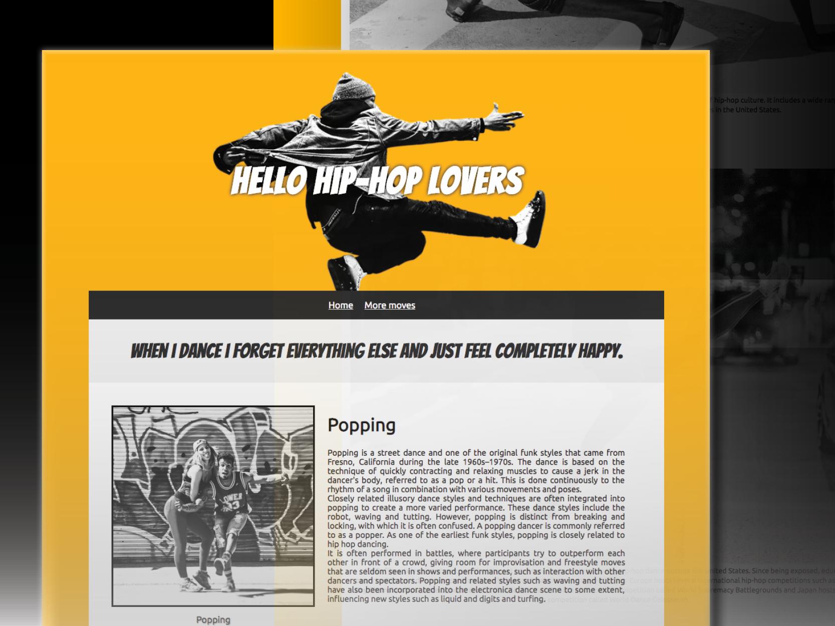 Web site hiphop v3