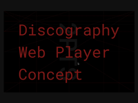 Discography Web Player Concept