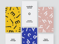 Optica Business Cards pattern dots lettering type abstract color typography letters optica optics identity branding ui logo identity business card design business card businesscard brand design branding