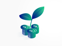 Growing Money Illustration