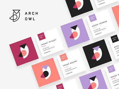Arch Owl Logo icon color identity abstract branding brand business card logotype owl logomark mark design logo ui