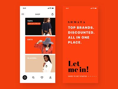 Shopping App Concept fashion app ux red popular trending concept fashion shopping typography branding app design ui