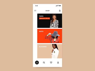 Shopping App Parallax fashion animation 3d parallax motion gif app ux design ui