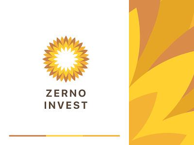 Zerno Logo Concept logotype brand identity wheat mark identity icon invest logo concept grain corn sunflower zerno logo branding