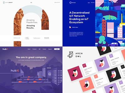 Top 4 of 2018 purple landing page brand top4 owl vector illustration page landing desktop web website logo branding ux ui