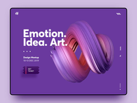 Hypnotic Landing Page candy web design waves landing page gradient colorful homepage loop cinema4d shape glitch processing webdesign hypnotic abstract 3d art desktop animation purple 3d