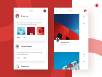 Social app pages