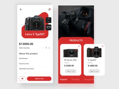 camera ecommerce design