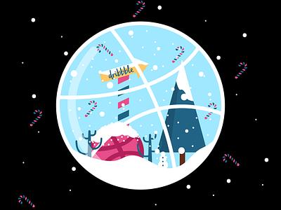 Dribbble Wonderland art logo snow vector line art illustration community dribbble christmas wonderland winter