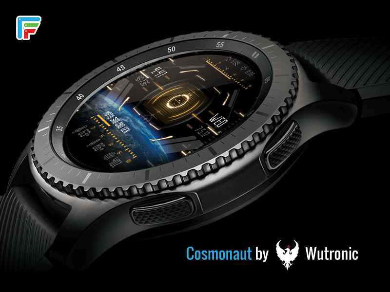 cosmonaut scifi smartwatch watch face by facer dribbble dribbble