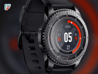 SCALADE android wear ai brand branding earth gears3 glow smart watch space spaceship ui wearable