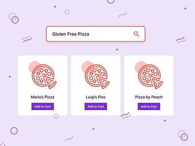 Search Result gluten free pizza visual design ui illustration