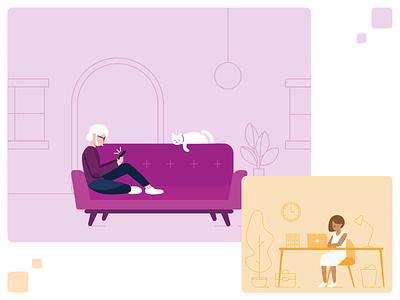 Illustration Library vector design visual design character illustration