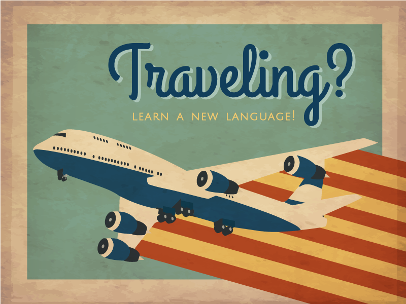 Traveling? Learn a New Language! illustration