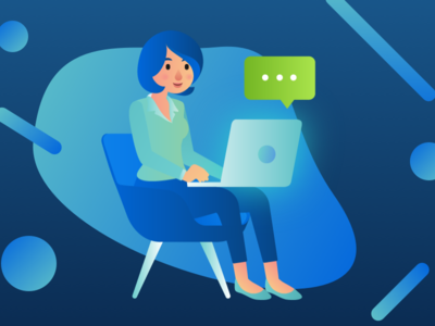 Online Collaboration Illustration