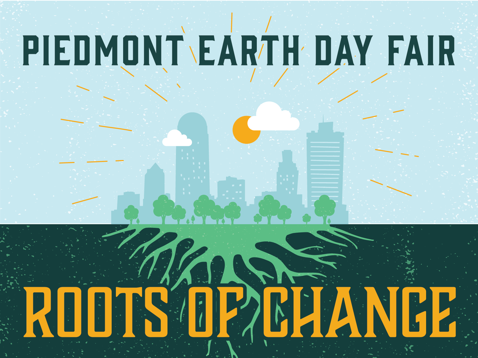 Piedmont Earth Day Fair Illustration city roots north carolina earth day typography illustration