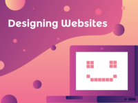 Retro Web Design Illustration