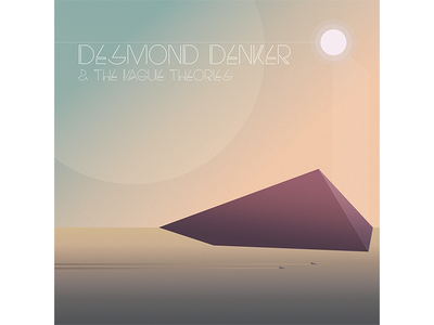 Desmond Denker & the Vague Theories space album electro gradient pastel electronic music record shadow light geometric illustration cover