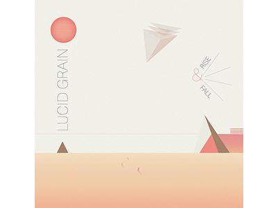 Lucid Grain space shadow record pastel light illustration gradient geometric electronic music electro cover album