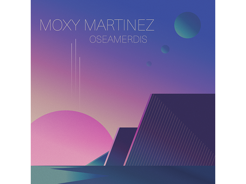Moxy Martinez planet space shadow record light illustration gradient geometric electronic music electro cover album