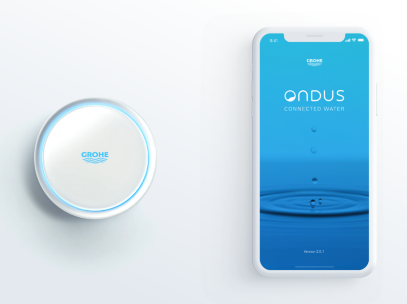 GROHE Ondus App smart home smarthome uidesign ux design ux ui application app ios app ios