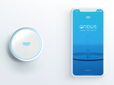 GROHE Ondus App smart home smarthome uidesign ux design ux ui application app ios app ios