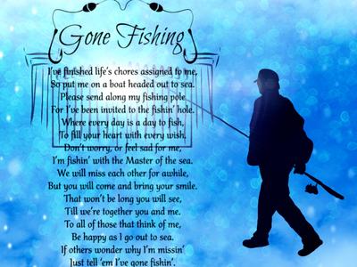 Memorial Project design gone fishing fisherman heaven illustration