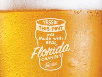 Soo Nectar. beer florida pint oranges