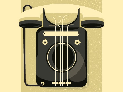 hello operator phone music poster logo