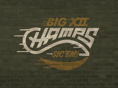 Sic'em sports logo football bears wallz