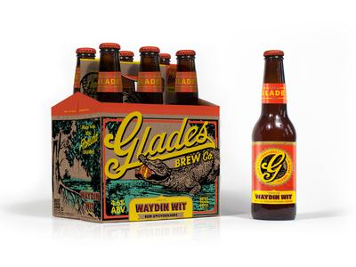 Glades | Waydin Wit beer florida oranges packaging labeling al gore