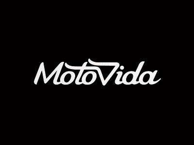 MotoVida script type motorcycle black white wear-a-helmet