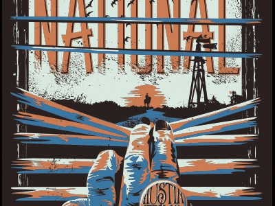 Trouble will find me. | The National | Austin 2014 poster austin texas gigposter goodtimes