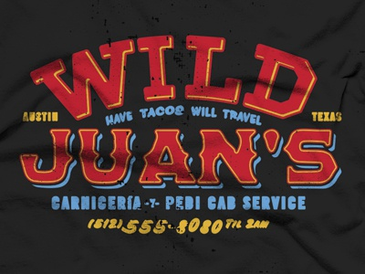 Wild Juan's goofoff fake business bureau tacos rtexas austin brando shirt