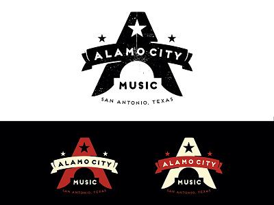 Alamo city / kill room floor alamo texas music unused not forgotten logo a banner stars