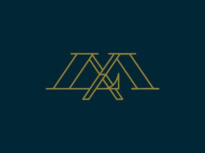 LMva | wip monogram logo monoline stroke