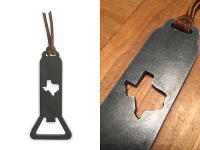 Texas Opener brass knuckles leather heavy metal product design bottle cap bottle refresco beer texas