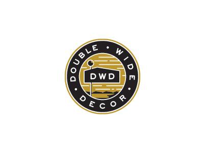 DWD / Raise the flag logo circle. enclosure emblem 2color whiskeytango flag thicklines