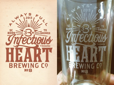 imaginary beer brand - birthday pint glass texas austin beer logo pint glass suds laser etch