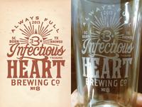 imaginary beer brand - birthday pint glass