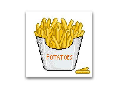 Potatoes (pixel_art) potatoes illustration art pixel