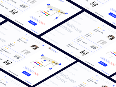 Workplace constructor. E-shop concept isometry constructor eshop adobexd interface