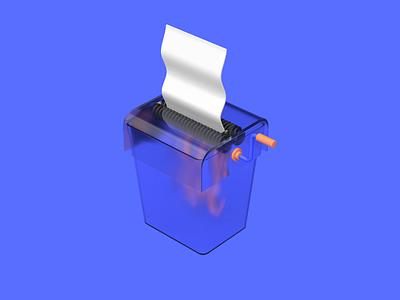 Cross cut paper machine illustration design 3d photoshop cinema 4d