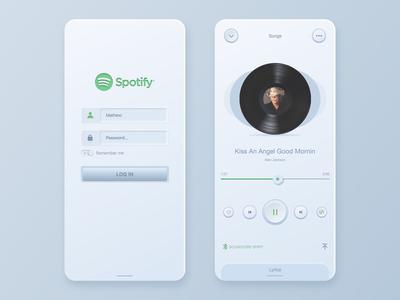 Spotify Skeuomorphism