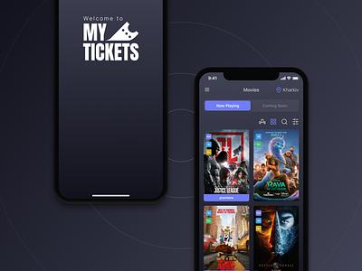 My Tickets App Pt.2 iphone ios cinema tickets movies light mode dark mode interface ui ux mobile app design