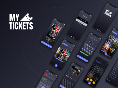 My Tickets App Pt.4 iphone ios popcorn tickets movies design interface logo branding ui ux mobile app mobile app design