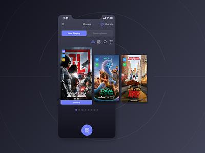 My Tickets App Pt.5 branding design cinema movies tickets popcorn iphone ios light mode dark mode mobile app ui ux mobile app design