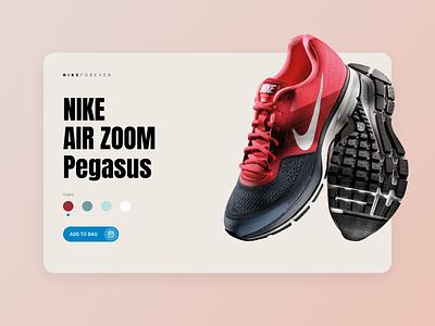 Nike 2 blue red white branding minimalism clean landing design sport shoes ux ui