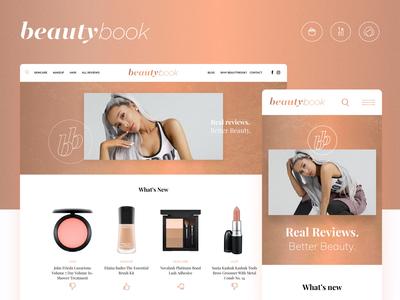 Beautybook Website - Homepage